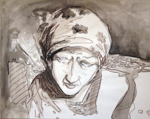 Usbekin auf dem Basar