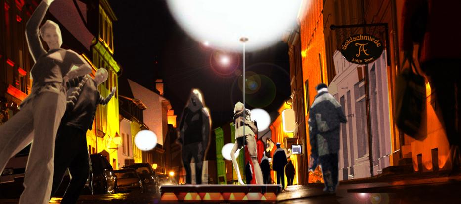 Lichtinzenierung Baeckerstrasse