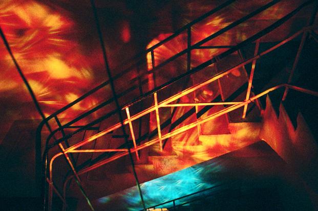 Lichtinzenierung im Treppenhaus